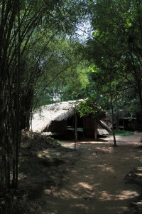 One of the shelters inside the Cu Chi Tunnels park.