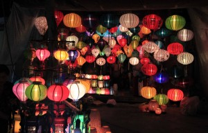 Paper lanterns for sale in Hoi An.
