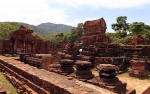 The Mỹ Sơn ruins.