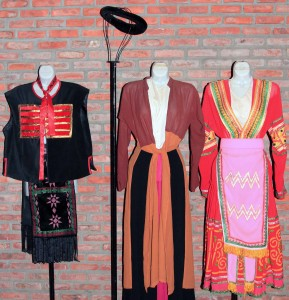 Traditional costumes from the indigenous people of Vietnam.