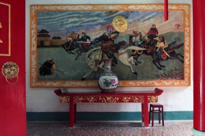 Painted relief on the wall inside Phuc Kien Assembly Hall.