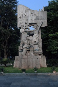 Monument in Hanoi (the soldier is carrying an anti-tank bomb).