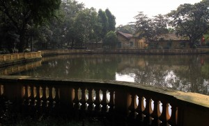 Carp pond on the Presidential Palace's grounds.