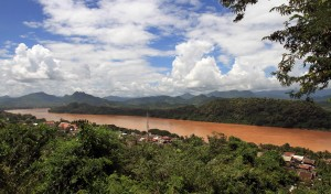 The Mekong River seen from the top of Chomsy Hill.