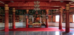 Inside the first level of Vipassana temple.