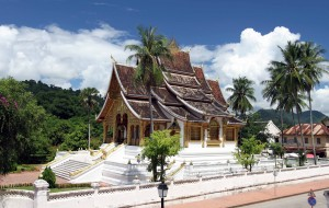 Haw Pha Bang temple in the Royal Palace's grounds.