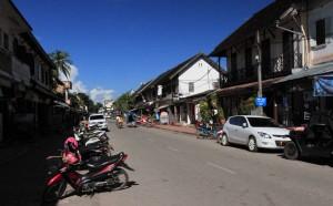 Street in Luang Prabang.