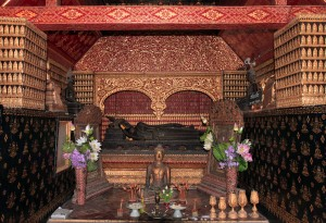 Inside one of the shrines in Wat Xieng Toung.