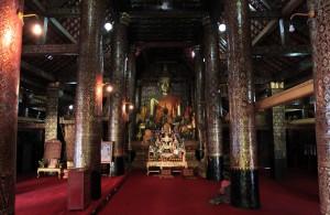 Inside the main temple hall.