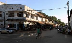 Intersection in Luang Prabang.