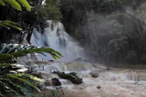The main attraction of Kuang Si Waterfalls.