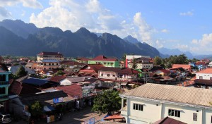 Another overview of Vang Vieng.