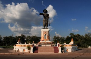 Statue of King Chao Anouvong.