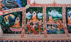 Murals in the open hall.