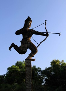 Statue of an archer.