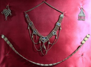 A necklace and a waist belt - all a beautiful woman need ever wear.