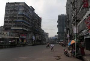 Road in Dhaka.
