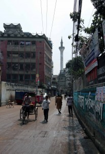 Street in Old Dhaka.