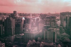Dhaka seen through an IR filter.