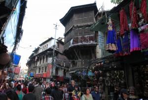 Busy street in Kathmandu.