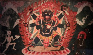 Mahakala - Shiva as lord of time; he assumes this form when leading all things to final dissolution.
