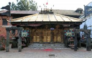Shrine with golden doors in Changu Narayan.