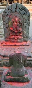 Hindu sculptures in Changu Narayan.
