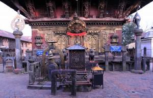 The main entrance to the temple at Changu Narayan.