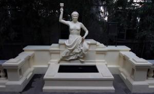 Laxmi, the goddess of wealth and abundance - originally it was Nike, until it was redone.