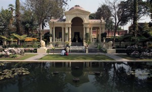 The Basanta pavilion seen from the main pond.