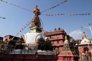 Stupa in Shree Gha Temple complex.