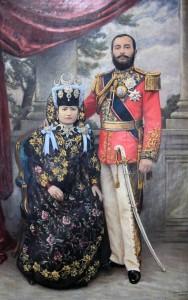 Portrait of a royal couple.