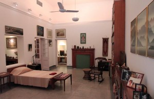Indira Gandhi's bedroom.