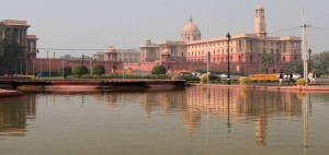 The Secretariat Building, where the Cabinet Secretariat is housed, which administers the Government of India.