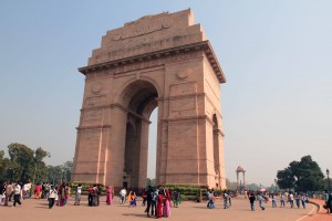 Angle view of the India Gate.