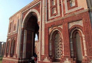Alai-Darwaza, a gateway which formed the main access to the southern wall of the enlarged Quwwatu'l-Islam Mosque.