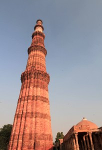 Qutb Minar, the largest stone tower in India.