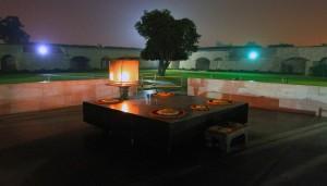 Raj Ghat, a memorial to Mahatma Gandhi.