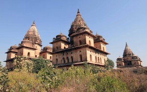 Cenotaphs in Orchha.