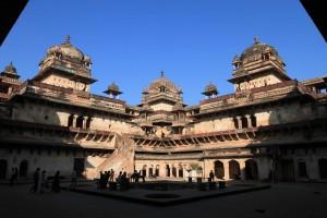 Inside Jahangir Mahal.