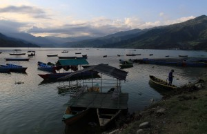 More boats in Phewa Lake.
