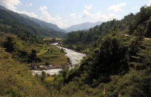 Another view of the valley and Marsyangdi Nadi.