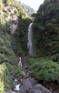 Waterfalls near the town of Bhulbhule.