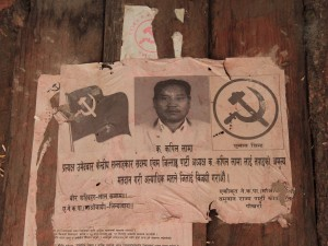 Communist poster found in Thoche - silly Maoists.