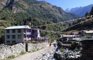 One of many modern lodges found along the Annapurna trek.
