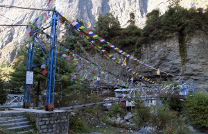 Suspension bridge on the north side of Chame.