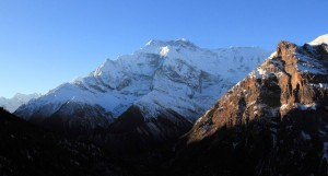 The Annapurna Himal in the morning.