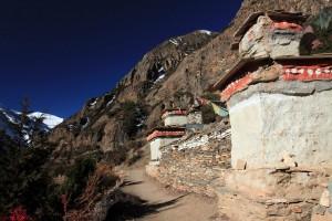 A Mani wall west of Ghyaru.