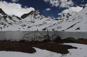 "Closer view of Ice Lake (""Kicho Tal"" in Nepalese)."