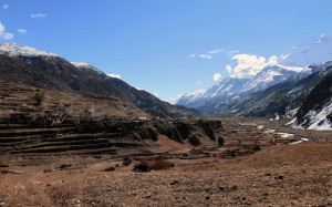 Looking back at the valley, with Manang on the left.